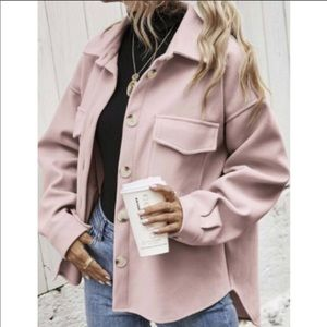 Pink Boyfriend Jacket